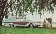 1963 Ford Fairlane Squire Station Wagon Advertising Postcard