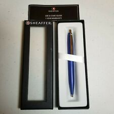 Shaeffer Blue stainless steel Pen with box