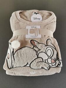 Disney Bambi Klopfer Hase Damen Fleece Pyjama Schlafanzug Hausanzug Warm XS-XL