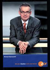 Michael Opoczynski ZDF Autogrammkarte Original Signiert ## BC 26056