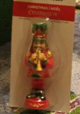 TINY TREASURES CELEBRATE IT NUTCRACKER BLOWING A HORN CHRISTMAS MINIATURE