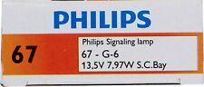 License Light Bulb-Standard Philips 67CP - Pack of 10