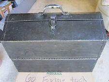 VINTAGE OLD METAL TOOL BOX