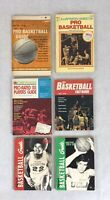 Lot Of 6 Vintage Pro & College Basketball Guides & Books & Illustrated Digest