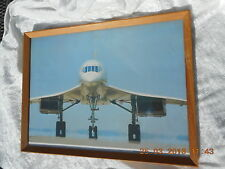 FRAMED AND GLAZED PRINT  CONCORDE 'PREPARING TO TAKE OFF'