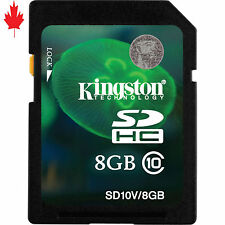 Kingston SD10V 8GB Flash Memory Card SDHC Class10 forDigital Camera Phone Video