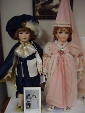 """Lot-2 Designer Guild Collection,""""Romeo"""" And """"Juliette""""Dolls By Linda Steele Doll"""