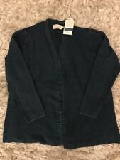 Stunning SEASALT Indigo dyed 100% cotton knit cardigan Size 18 NEW with tags