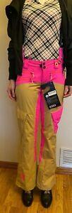 Eira Performance Ski Pink and Beige Pants Women XS Petite Waterproof Snow