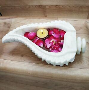 Marble Bowl Urali Lotus Leaf Decorative Bowl engraved table decor Bowl outdoor