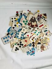 HUNDREDS OF VINTAGE ,PLASTIC ,METAL ETC... BUTTONS MOST ON ORIGINAL CARDS