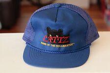 Rare Vtg Cattz Home of the Rollmaster Mesh Trucker Snapback Hat Cap Rope Bill