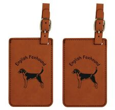 L3140 English Foxhound Luggage Tags 2Pk Free Shipping 200 Breeds Available
