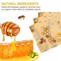 3 tailles Sac d'aliments réutilisables à base de cire d'abeille Nature plastique