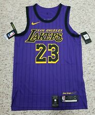 Auténticas Nike Los Angeles Lakers Lebron James City Edición Jersey 44 AH6213 508