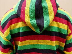 Kapuzenjacke Jerga Dashiki Hoodie Jamaika Hippie Jamaica Reggae Marley - Gr. XXL