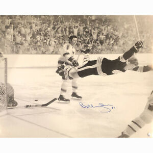 Bobby Orr Autographed Flying Goal 20X24 Photo