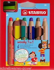6 Case Stabilo Woody 3 in 1 8806- All-rounder colour pencil Colouring pen+
