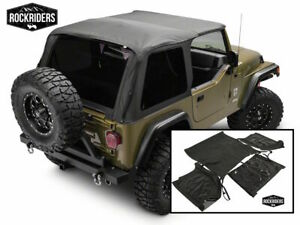 Fastback Bowless Frameless Soft Top and Tinted Window 1997-2006 Jeep Wrangler