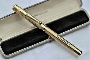 Vintage-  Mint - SWAN Rolled Gold Overlay - Fountain Pen - C1935 - USA - Cased