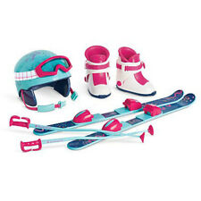 """American Girl TRULY ME SKIS AND HELMET SET for 18"""" Doll Boots Poles Winter NEW"""