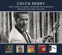 Chuck Berry - Five Classic Albums Plus Bonus Singles & Rare Tracks (4CD)  NEW