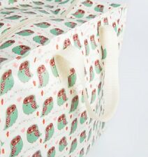 grand SAC RANGEMENT JUMBO BAG motif HIBOU CHOUETTE design scandinave