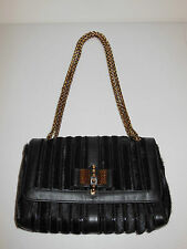 CHRISTIAN LOUBOUTIN BLACK SWEET CHARITY CALF HAIR SHOULDER BAG $1895