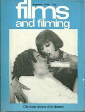 RARE - FILMS AND FILMING Magazine - Dec. 1976 - Brian DePalma - Bad News Bears