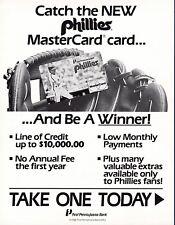 Philadelphia Phillies 1988 Master Card Advertisement with Mike Schmidt