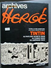ARCHIVES HERGE TOME 1 / VERSIONS ORIGINALES DES ALBUMS TINTIN / TBE