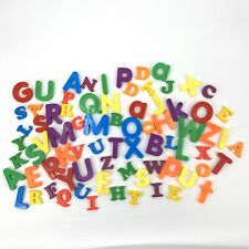 Magnetic Plastic Letters Lot Of 76 Various Sizes Colors