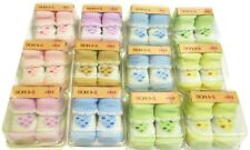 Girls Socks Lot Newborn Baby Shoe Booties Shower Gift 12 Pack Hearts One Size