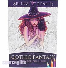NEW * SELINA FENECH * COLOURING BOOK ENCHANTING GOTHIC FANTASY ADULT ART BOOK