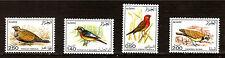 ALGERIE 1987 série complète 563-566 OISEAUX -BIRDS communs, sédentaires  1m436