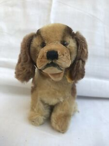 Vintage Steiff Cockie Cocker Spaniel Dog With Swivel Head Tag And Button-in-ear