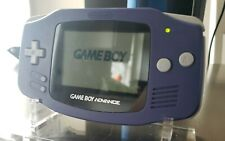 Nintendo Game Boy Advance AGB-001, Indigo Purple - Tested and Working