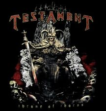 TESTAMENT cd lgo THRONE OF THORNS Official SHIRT LRG New dark roots