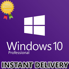 INSTANT WINDOWS 10 PRO PROFESSIONAL 32 / 64 BIT GENUINE PRODUCT LICENSE KEY