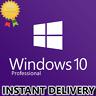 INSTANT WINDOWS 10 PRO PROFESSIONAL 32 / 64 BIT GENUINE PRODUCT LICENSE KEY