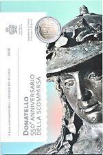 San Marino 2 € Euro GM 2016 550. Todestag Donatello Stgl./BU im Folder