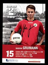 Marvin Grumann AUTOGRAPHE CARTE ROUGE Weiss Oberhausen 2013-14 original + a 159633