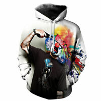 Graphic Pullover HoodiesTops Clown Women's Men's Sweatshirt 3D Printed Suicide