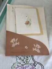 Vintage Hallmark Bears Stationary Envelopes Set Sealed w/seals