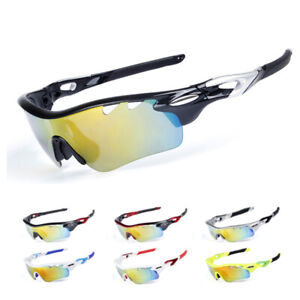 Cycling Sunglasses Riding Windproof Glasses UV400 Sports Eyewear with 5 Lenses
