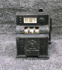 Vintage Miniature Die-Cast Metal Slot Machine Pencil Sharpener Golden Eagle