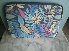 """NEW KAYOND FLORAL PRINT PADDED LAPTOP TABLET PROTECTIVE CASE 13"""" X 9"""""""