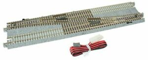 N Scale 20-231 Kato Concrete Tie Double Track With #4 Single Crossover Turnouts