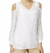 Top 16 16W Plus Alfani $76 REDUCED PRICE! White Layered Cold Shoulder NWT BR 318