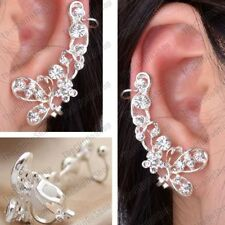 Silver Plated Cuff Costume Earrings